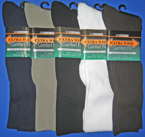 Extra Wide Comfort  Dress Sock
