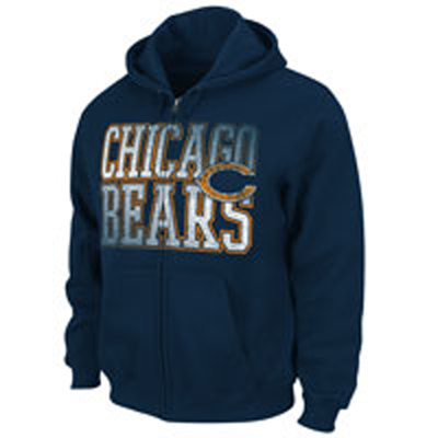 Chicago Bears Full Zip Hooded Sweatshirt