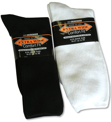 Extra Wide Comfort Athletic Sock 16-21 (OVERSIZED)