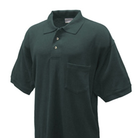 3 Button Pique Polo Shirt (with Pocket)