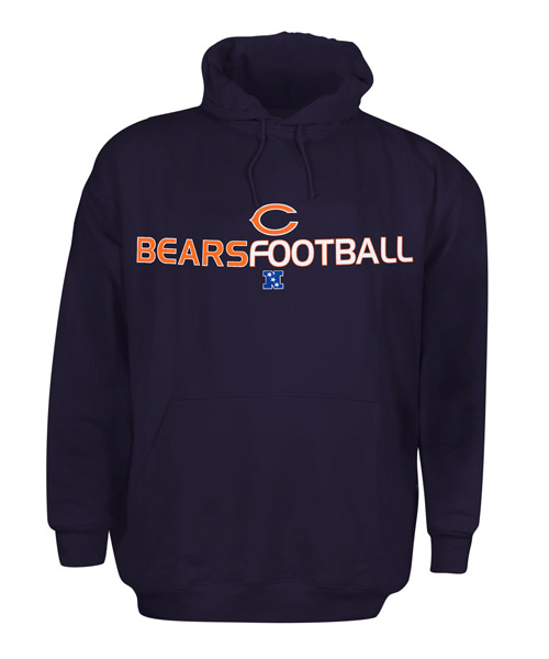 Chicago Bears Navy Hooded Pullover Sweatshirt