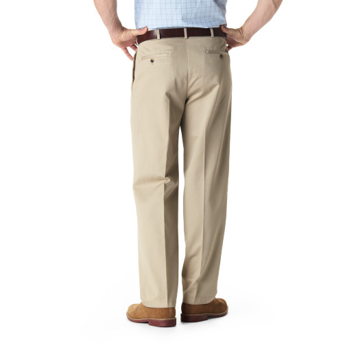 Haggar Pleated No-Iron Comfort Waist Pants