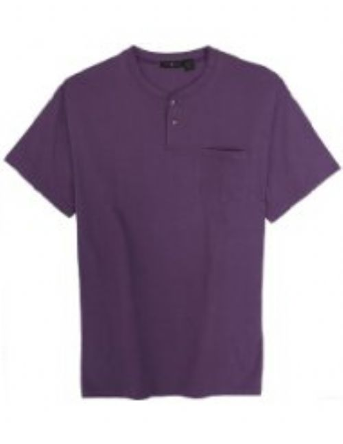 3 Button Henley Shirt -Short Sleeved-