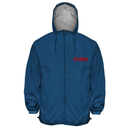 Chicago Cubs or Sox Hooded Zip Wind Jacket